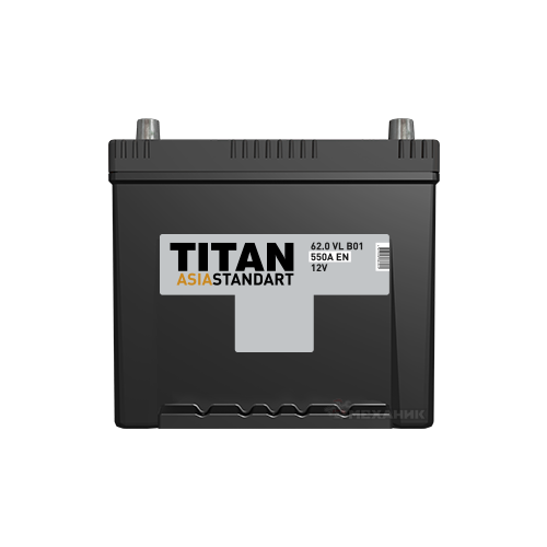 Автомобильный аккумулятор TITAN ASIA STANDART 6СТ-62.0 VL B01