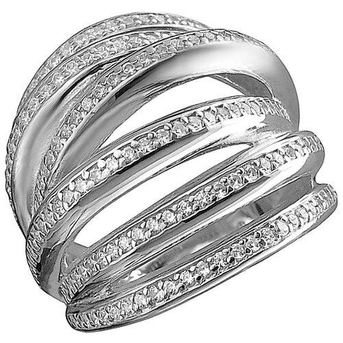 Эстет Кольцо с фианитами из серебра Т4К150100016, размер 18 фото