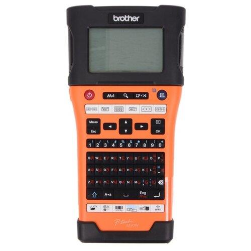 Термотрансферный принтер этикеток Brother PT-E550WVP черный/оранжевый