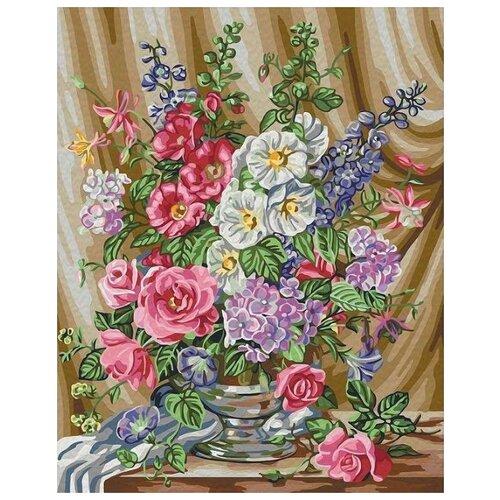 картины по номерам color kit картина по номерам розы для любимой Картина по номерам Color Kit Розы в цвету, 40x50 см