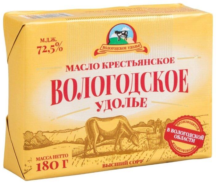 Вологодское Масло сливочное Удолье Крестьянское 72.5%, 180 г