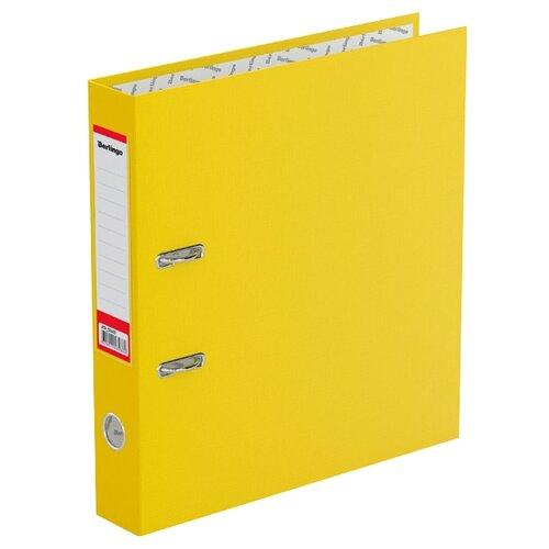 Berlingo Папка-регистратор с карманом на корешке Standard А4, бумвинил, 50 мм желтый berlingo папка регистратор с карманом на корешке standard а4 бумвинил 70 мм красный