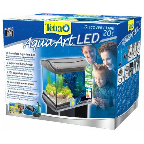 Аквариумный набор 20 л Tetra AquaArt LED Shrimps бесцветный/серый