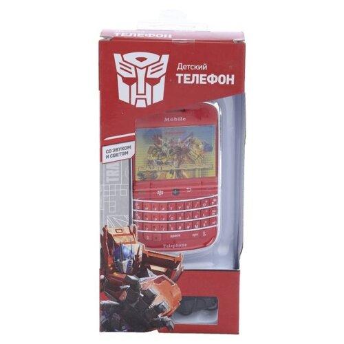 Интерактивная развивающая игрушка Hasbro Телефон сотовый Transformers GT8669 красный/желтый