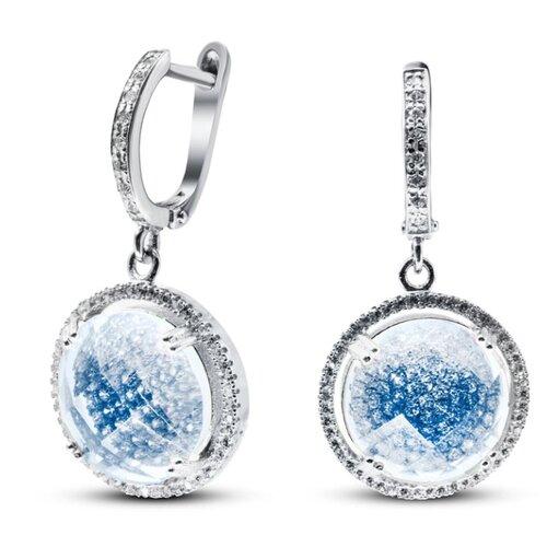 Silver WINGS Серьги из серебра куб.цирконий, смола ювелирная 22b8198n-136-248