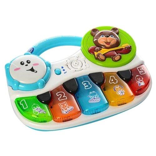 Интерактивная развивающая игрушка Play Smart Пианино Мишка голубой/белый, Развивающие игрушки  - купить со скидкой