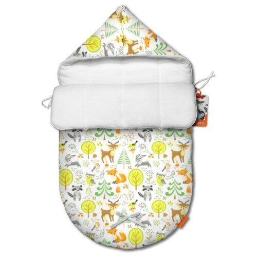 Купить Демисезонный конверт для новорожденного QuQuBaby Сказочный лес, Конверты и спальные мешки