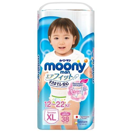 Купить Moony трусики Man для девочек XL (12-22 кг) 38 шт., Подгузники