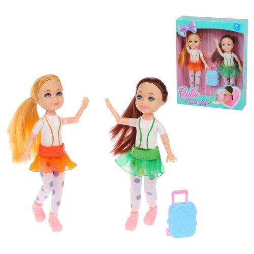 Купить Набор кукол Наша Игрушка 18 см с аксессуарами, 3 предмета, Наша игрушка, Куклы и пупсы