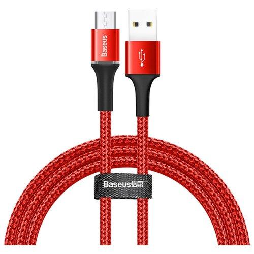 Фото - Кабель CAMGH-B09 Baseus halo data cable USB For Micro 3A 1m Красный кабель micro usb baseus camgh e01 halo data cable usb for micro 2a 3м black черный