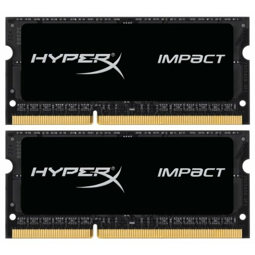 Купить Оперативная память HyperX Impact DDR3L 1866 (PC 14900) SODIMM 204 pin, 8 ГБ 2 шт. 1.35 В, CL 11, HX318LS11IBK2/16