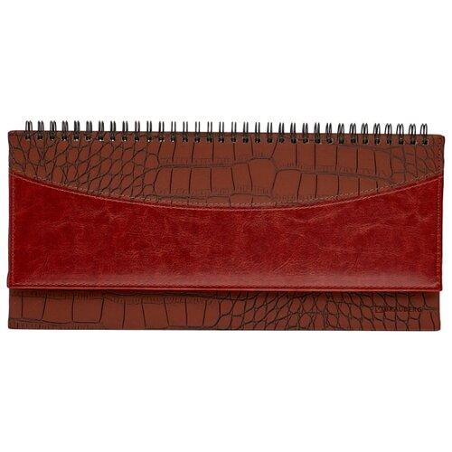 Купить Планинг BRAUBERG Cayman недатированный, 60 листов, коричневый/темно-коричневый, Ежедневники, записные книжки