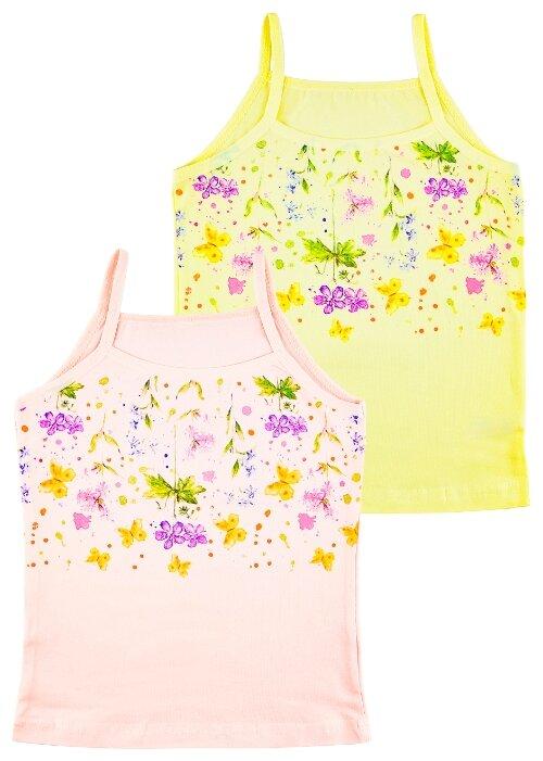 Майка ДО (Детская одежда) размер 92-98, желтый/персиковый