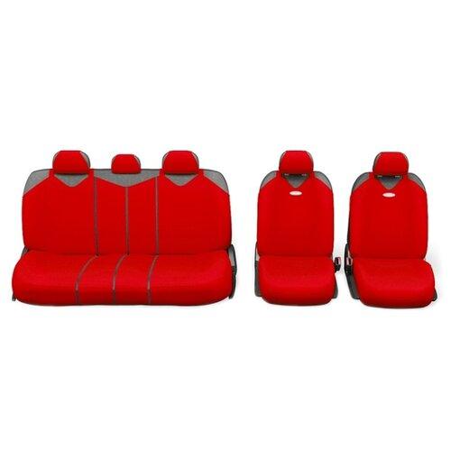 Комплект чехлов AUTOPROFI R-1 SPORT PLUS Zippers красный комплект чехлов autoprofi r 1 sport черный