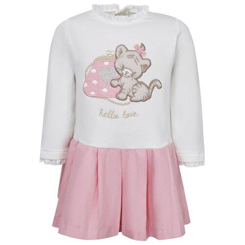 Платье Mayoral размер 92, белый/розовый