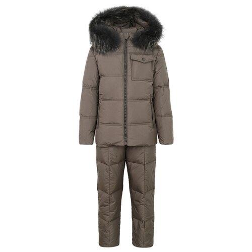 Купить Комплект с полукомбинезоном JUMS kids 2121516/2121576 размер 128, коричневый, Комплекты верхней одежды