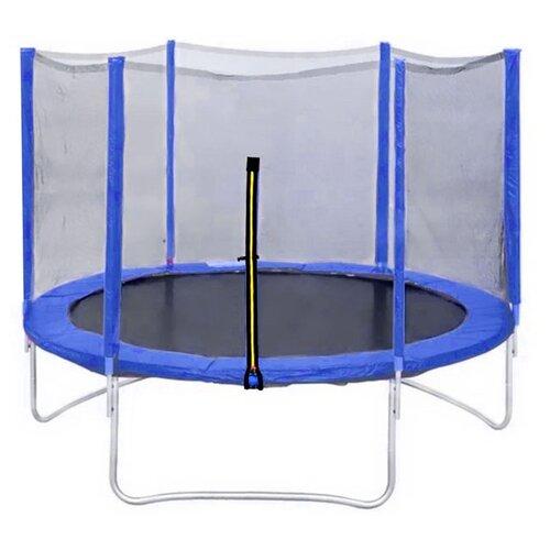 Каркасный батут DFC Trampoline Fitness 8FT-TR-LG/8FT-TR-B с сеткой 244х244 см синий каркасный батут dfc trampoline fitness 16ft tr lg 16ft tr b 488х488х269 см светло зеленый