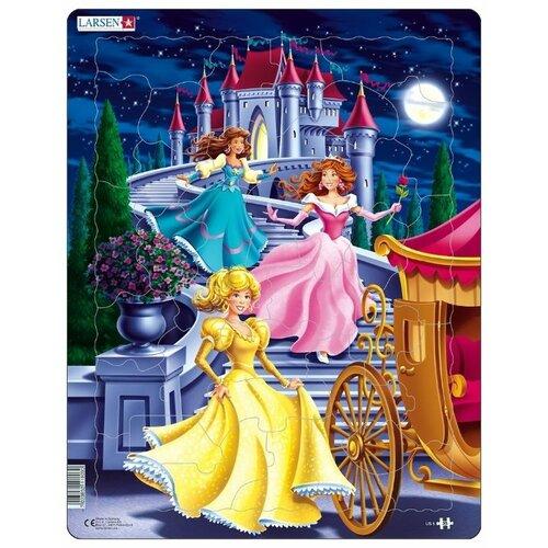 Купить Рамка-вкладыш Larsen Принцессы (US5), 35 дет., Пазлы