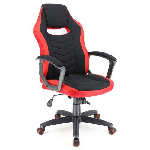 Компьютерное кресло Everprof Stels T игровое, обивка: текстиль, цвет: красный/черный