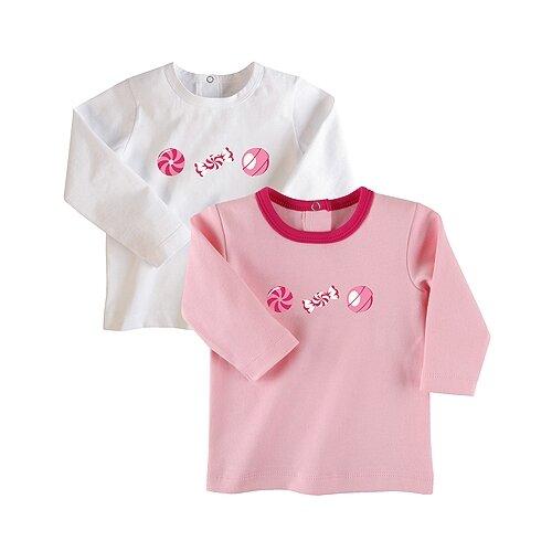 Купить Лонгслив Наша мама размер 104, белый/розовый, Футболки и майки