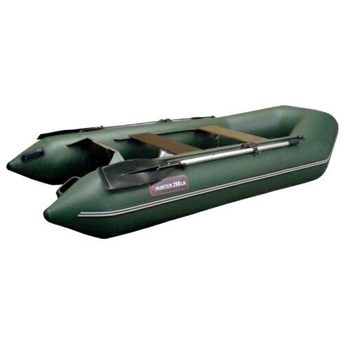 Надувная лодка HUNTERBOAT Хантер 290 ЛК зеленый надувная лодка leader компакт 200 зеленый