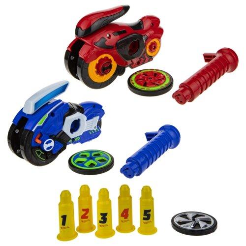 Купить Набор машин Hot Wheels Spin Racer Deluxe Set (Т19375) 16 см красный/синий, Машинки и техника