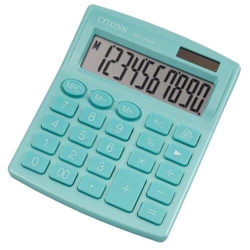 Калькулятор бухгалтерский CITIZEN SDC-810NR бирюзовый