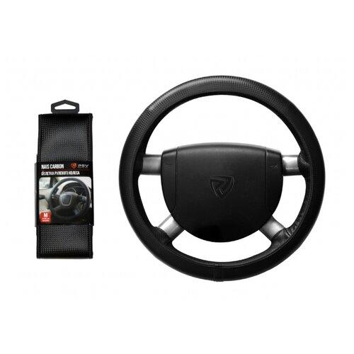 Оплётка на руль Nais Carbon, черная/отстрочка черная (M) PSV 129823