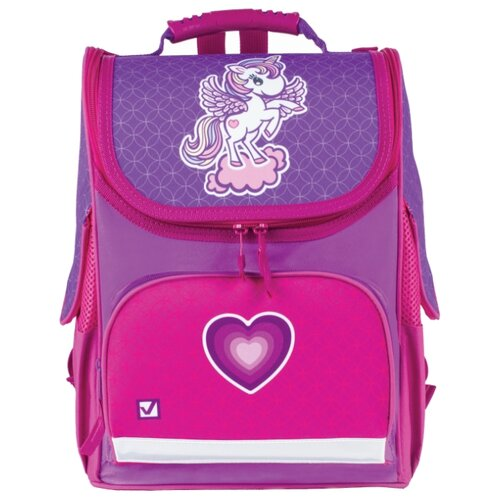 Купить BRAUBERG Ранец Style Юникорн (227833), фиолетовый, Рюкзаки, ранцы