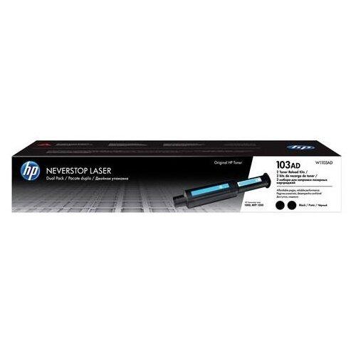 Фото - Заправочный комплект HP (W1103AD) Neverstop Laser 1000a/1000w/1200a/1200w,КОМПЛЕКТ 2 шт., оригинальный принтер лазерный hp neverstop laser 1000w a4 wifi 4ry23a