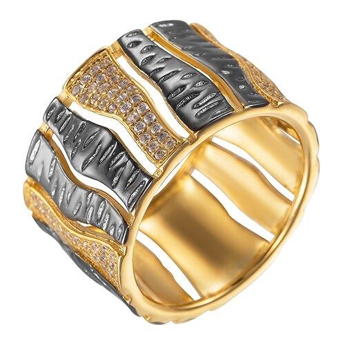 Фото - ELEMENT47 Широкое ювелирное кольцо из серебра 925 пробы с кубическим цирконием ARS101433W_KO_001_BJ, размер 18 element47 широкое ювелирное кольцо из серебра 925 пробы с кубическим цирконием 05s2azr104804curi 001 wg размер 18