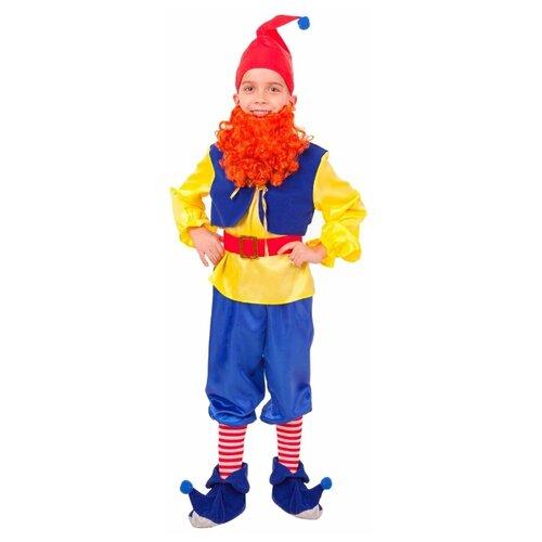 Купить Костюм Батик Гном Тилли (2003 к-18), желтый/синий, размер 110-56, Карнавальные костюмы