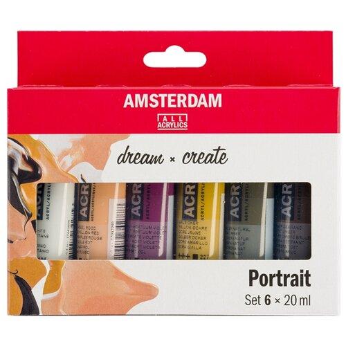 Купить Royal Talens Набор акриловых красок Amsterdam Standart 6цв*20мл портрет, Наборы для рисования