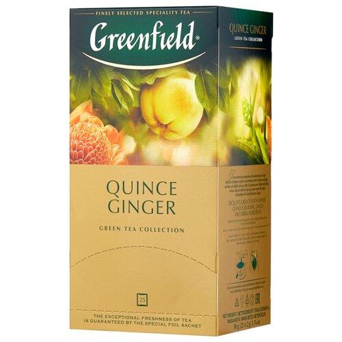 Чай зеленый Greenfield Quince Ginger в пакетиках , 50 г , 25 шт.