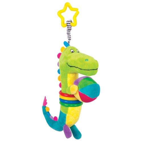 Купить Подвесная игрушка Happy Snail Крокодил Кроко (14HS014PKR) зеленый/голубой/желтый, Подвески