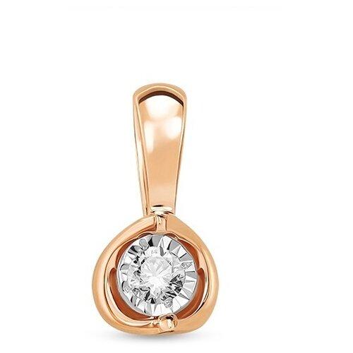 ЛУКАС Золотая подвеска с бриллиантами P01-D-33622
