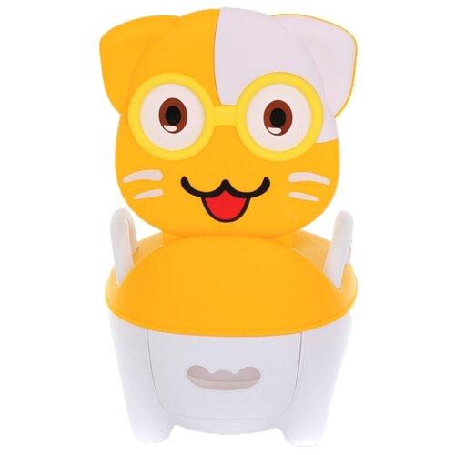 Pituso горшок Котик в очках желтый pituso горшок львенок голубой