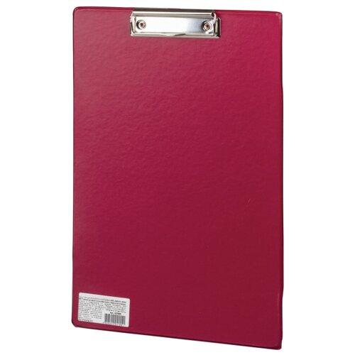BRAUBERG Доска-планшет Comfort А4 с верхним прижимом бордовый планшет
