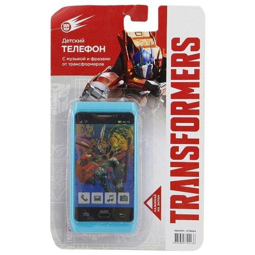 Интерактивная развивающая игрушка Hasbro Телефон сотовый Transformers GT8664 голубой сотовый