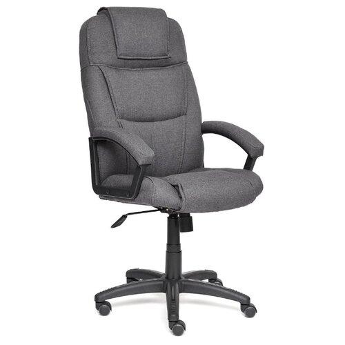 Компьютерное кресло TetChair Бергамо (крестовина пластик, обивка ткань) для руководителя, обивка: текстиль, цвет: серый компьютерное кресло tetchair барон обивка искусственная кожа цвет бежевый