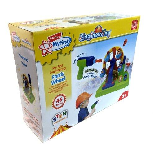 Купить Винтовой конструктор Edu Toys My First Engineering JS025 Колесо обозрения, Конструкторы