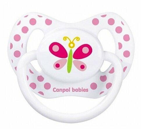 Пустышка силиконовая ортодонтическая Canpol Babies Summertime 18+ (1 шт)