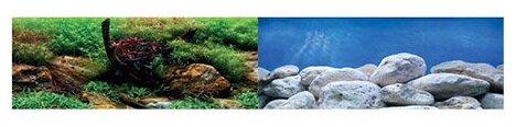 Пленочный фон BARBUS Водный сад/Яркие камни двухсторонний