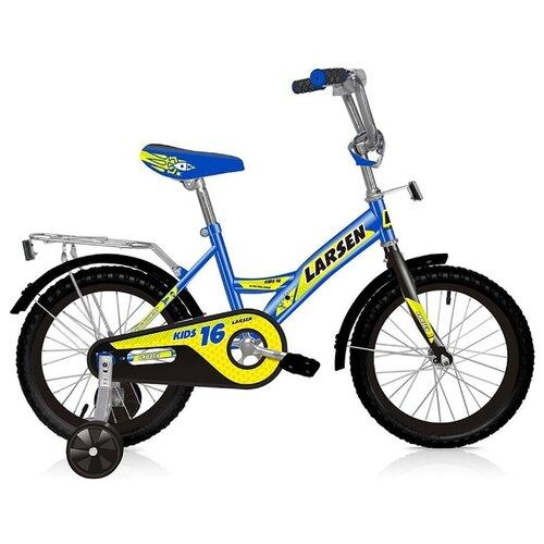 Детский велосипед Larsen Kids 16 (2018) синий (требует финальной сборки)