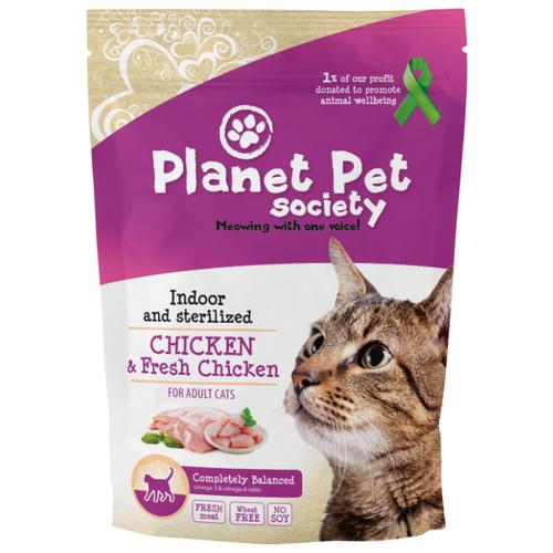 Корм для стерилизованных кошек Planet Pet Society с курицей 7 кг