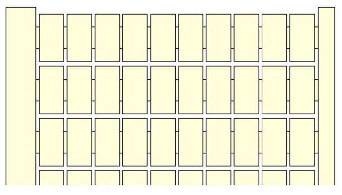 Маркировка для клеммной колодки/ клеммного блока ABB 1SNA229005R0600