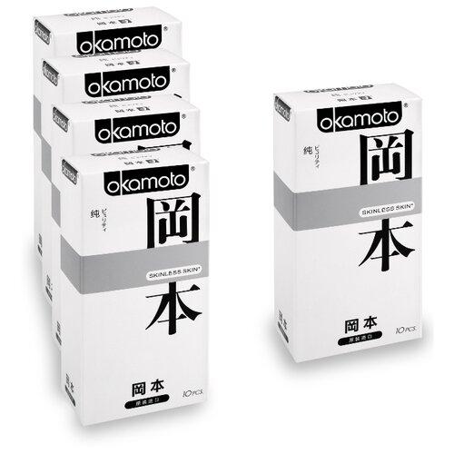 Презервативы Okamoto Skinless Skin Purity (5 уп. по 10 шт.)