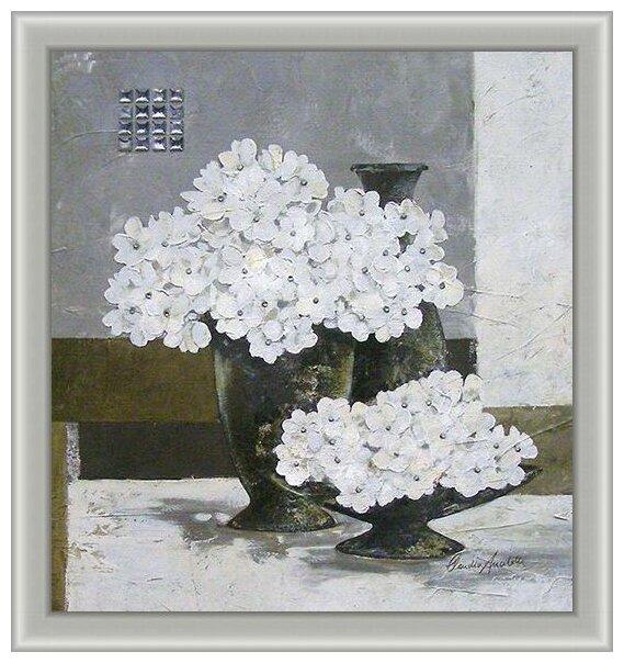 Подушка полукрестом чарiвниця V98 Красные цветы 40х40
