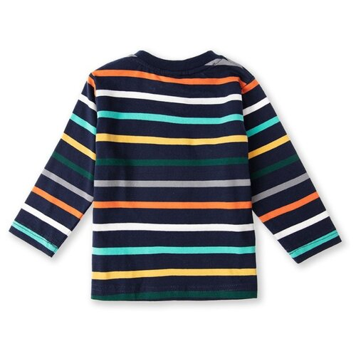 Купить Лонгслив playToday размер 74, синий/зеленый/оранжевый, Футболки и рубашки