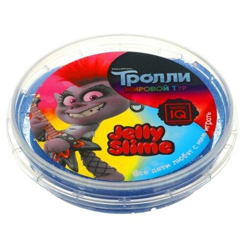 Лизун Master IQ² Jelly Slime Тролли. Мировый тур фиолетовый